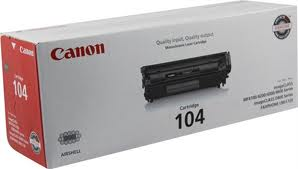 Genuine Canon Black Laser Toner cartridge compatible with the Canon (FX-9, FX-10, Canon104) 0263B001A
