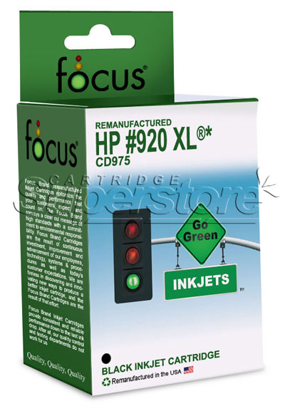 HY Black Inkjet Cartridge compatible with the HP (HP 920XL/HP920xl/HP920) CD975AN (1200 page yield)