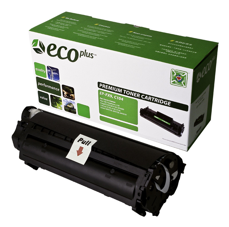 Replacement Black Laser Toner cartridge  Canon FX-9, FX-10, Canon 104
