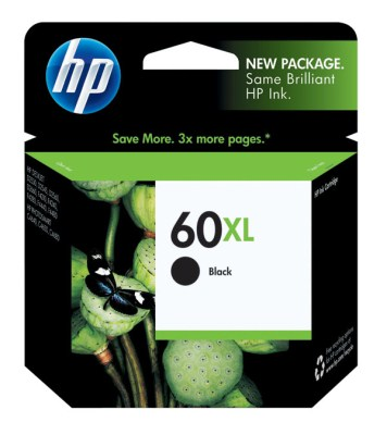 Genuine HP High Capacity Black Inkjet Cartridge  (HP 60XL) CC641WN