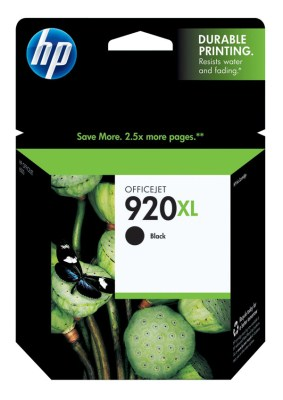 Genuine HP Black Inkjet Cartridge  (HP 920XL/HP920XL) CD975AN (1200 page yield)